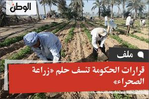 قرارات الحكومة تنسف حلم «زراعة الصحراء»