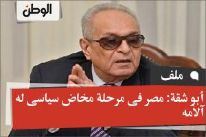 أبو شقة: مصر فى مرحلة مخاض سياسى له آلامه