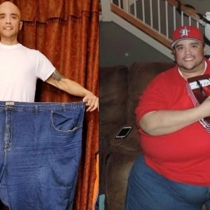 بالصور| شاب يخسر 200 كيلو جرام من وزنه بسبب الجري في تحدي التخسيس