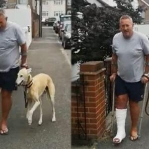 رجل ينفق أكثر من 6 آلاف جنيه على كلبه المريض ليكتشف أنه يقلد مشيته