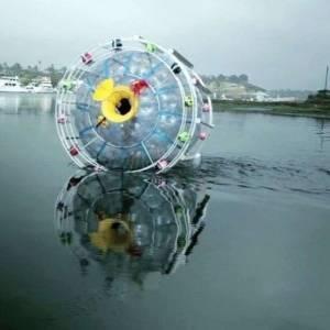"""بالفيديو  """"مغامر"""" يحاول عبور المحيط الأطلنطي في فقاعة بلاستيكية"""