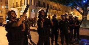قوات الأمن اللبنانية تتصدى لمحاولة معتصمين اقتحام السراي الحكومي