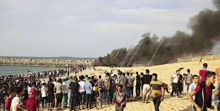 """إصابة 12 فلسطينيا بنيران الاحتلال في جمعة """"التضامن مع لاجئي لبنان"""""""