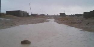 سقوط أمطار متوسطة على مناطق في شمال سيناء