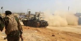 الجيش الليبى يقصف مواقع لميليشيات حكومة الوفاق.. ويقترب من طرابلس