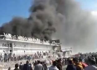 إصابة 9 بينهم أمين شرطة في محاولة إخماد حريق مزرعة بط بالدقهلية