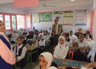 """صور.. مدير """"طور سيناء التعليمية"""" يتابع انتظام المدارس"""
