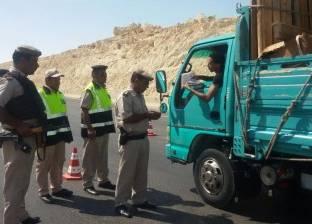 حملات الإدارة العامة لمرور الجيزة تضبط 5 آلاف مخالفة