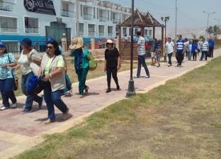 فوج سياحي ألماني يصل إلى مرسى تل العمارنة بالمنيا