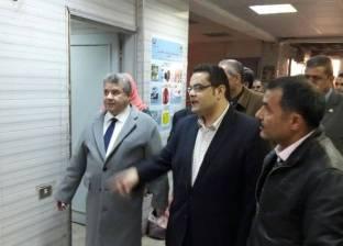 رئيس جامعة بنها يتفقد أعمال التطوير بالمستشفى الجامعي