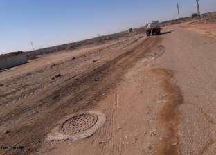 بدء أعمال رصف مدخل مدينة موط في الوادي الجديد