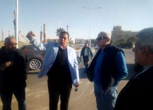 """نائب """"المجتمعات العمرانية"""" يتفقد المشروعات بمدينة المنيا الجديدة"""