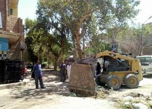 رفع 35 طن مخلفات بمركز دير مواس في المنيا