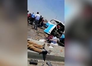 إصابة أمين ومساعد شرطة إثر انقلاب سيارة على الطريق الزراعي في البحيرة