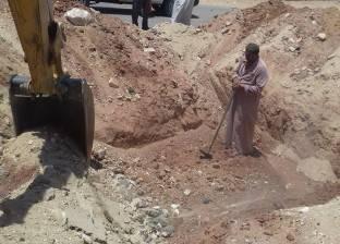 """إحلال خطوط الصرف الصحي في 5 مناطق بـ""""الخارجة"""" في الوادي الجديد"""
