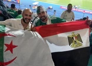 """""""تشجيع منتخب وصداقات جديدة"""".. """"حاسني"""" جاء لمساندة الجزائر فعشق أم الدنيا"""