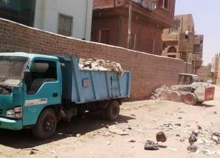 رفع 65 طن قمامة من مدينة ساقلته بسوهاج