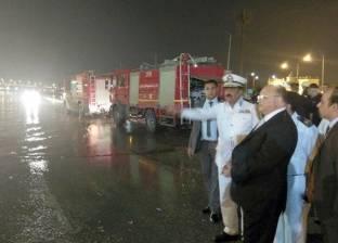 مديرية أمن القاهرة تدفع بسيارات شفط المياه لعدد من المحاور المرورية