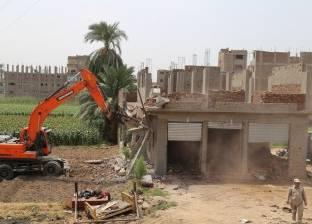 إزالة 54 حالة تعد على الأراضى الزراعية في كفر الشيخ