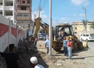 تأمين ودفن كابلات كهرباء وتسوية محيط سور مدرسة في دمياط