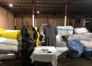 ضبط حارس أمن وتاجرة ملابس بتهمة سرقة منسوجات بـ300 ألف جنيه في المحلة
