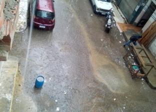 بالصور| سقوط أمطار غزيرة على سواحل دمياط