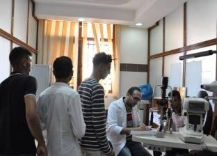 بالصور| بدء الكشف الطبي الشامل على الطلاب الجدد بجامعة كفر الشيخ