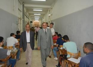 رئيس جامعة الأزهر يتفقد لجان الامتحانات بكلية الزراعة