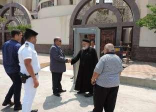 جولة مفاجئة لمدير أمن بورسعيد على خدمات تأمين الكنائس