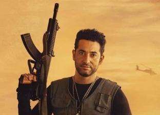 """عمرو سعد يتحدى برودة الطقس بـ""""حملة فرعون"""" في مدينة الإنتاج الإعلامي"""