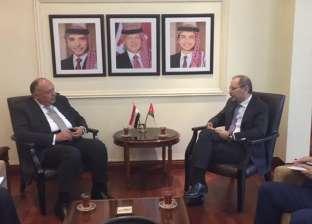 شكري يبحث مع نظيره الأردني توحيد الجهود المشتركة لمحاربة الإرهاب