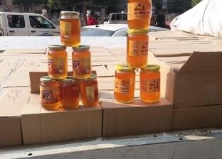 بالصور| ضبط طن عسل نحل مجهول المصدر في الفيوم