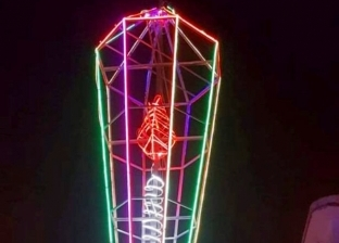 """بطول 12.5 متر.. أهالي الحضرة بالإسكندرية يصنعون فانوسا من """"الألوميتال"""""""