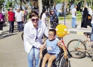 ماراثون دراجات بخارية فى الإسكندرية بمشاركة متحدّى إعاقة