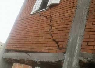تصدعات في 4 منازل بمدينة أخميم بسوهاج