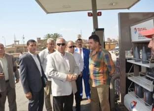 محافظ الشرقية يتفقد عدد من محطات الوقود بمدينة الزقازيق