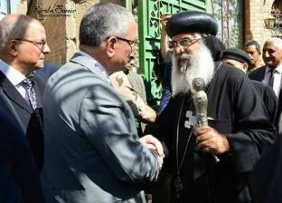 """محافظ المنيا يهنئ الأنبا أغابيوس أسقف دير مواس ودلجا بعيد """"القيامة"""""""