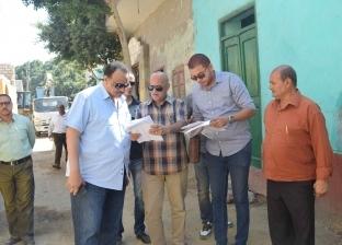 """إزالة تعديات بسمالوط وبني مزار ضمن حملة """"حق الشعب"""" في المنيا"""