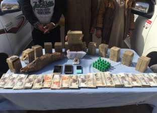 ضبط 44 كيلو حشيش و6 قطع أسلحة نارية في حملات مكافحة المخدرات