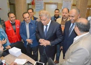 """الكشف على 2 مليون و180 ألف مواطن في المنيا بـ""""100 مليون صحة"""""""