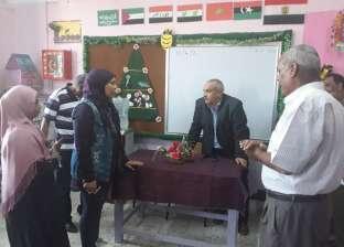 رئيس مدينة سفاجا يتفقد المدارس قبل ساعات من العام الدراسي الجديد