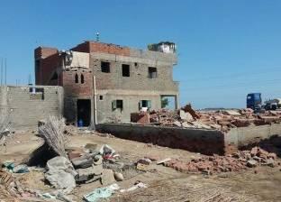 استمرار حملات الإزالة على أراضي الدولة غرب بورسعيد