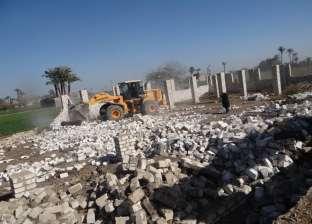 إزالة 841 حالة تعد على أراضي أملاك الدولة بالقليوبية