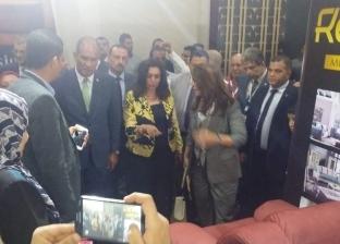 """محافظ دمياط ووزيرة التضامن يفتتحان معرض """"فرنكس دمياط"""" للأثاث"""