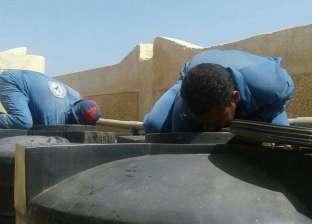 لجنة من مديرية الصحة تتابع تطهير خزانات مياه الشرب برأس غارب