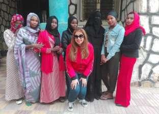 بالصور| شمس تشاد تشرق في مصر بدراسة 30 فتاة داخل جامعة قناة السويس