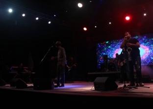 """بالصور.. """"سديم باند"""" تحيي حفلا بمكتبة الإسكندرية ضمن مهرجان الصيف"""