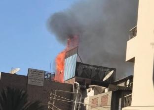 """تفاصيل حريق منطقة الدراسات بالمنصورة.. """"حمام"""" يشعل النار في 4 منازل"""