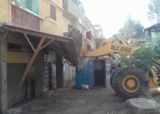 بالصور  حملة لإزالة التعديات بشوارع بيلا في كفر الشيخ