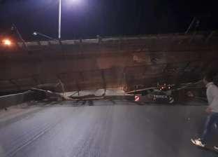تحويلات مرورية بعد انهيار كوبري مشاه على طريق «القاهرة - بنها» الزراعي